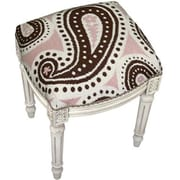 123 Creations C821WFS Paisley,Brown & Pink Needlepoint Stool