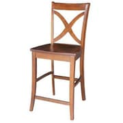 "International Concepts 24""SH Counterheight Stool, Espresso, Vinyard (RTL54206)"