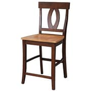 "International Concepts 24""SH Counterheight Stool, Aged Cherry, Verona (RTL54213)"