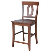 "International Concepts Verona 24"" Counter-Height Stool, Espresso (RTL54214)"