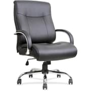 Lorell Big & Tall Leather Executive Office Chair, Fixed Arms, Black (RTL156671)