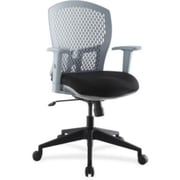 Lorell Plastic Back Flex Chair, Gray
