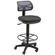 Alvin Griffin Fabric Computer and Desk Office Chair, Armless, Black (ALV6460)