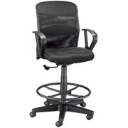 Alvin Dc724,40 Mesh Salambro Junior Drafting Chair , Black