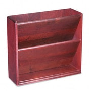 Carver 09623 Hardwood Double Wall File, Letter, 2 Pocket, Mahogany