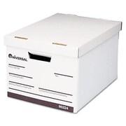 Universal 952244 Quick Set-Up Lift-Off Lid Storage Box, Letter/Legal, Fiberboard, White, 4/Carton (AZUNIV952244)
