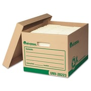 Universal 282234 Recycled Record Storage Box, Letter/Legal, 12 x 15 x 10, Kraft, 4/Carton