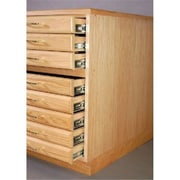 SMI Natural Oak Steel Drawer Guide Flat File Flush Base (ALV35549)