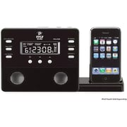 PyleHome TBAL7406 Enhanced iPod/iPhone Alarm Clock Speaker System with AM/FM Radio and Remote Control, Black