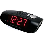 Sonnet Industries R-1627 9in LED Clock Radio with USB Charging of Smart Phone (SNNT030)