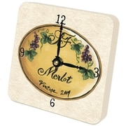 "Lexington Studios 5"" x 5"" Merlot Tiny Times Clock (LXNGS332)"