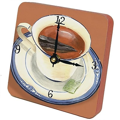 Home and Garden Cup of Tea Tiny Times Clock 23014TT