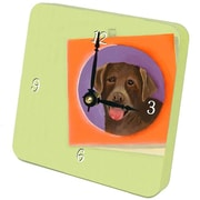 Lexington Studios 23027TT Chocolate Lab Tiny Times Clock