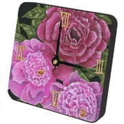 "Lexington Studios Tiny Times 5"" x 5"" Peony Clock (LXNGS369)"