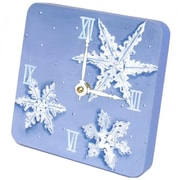 "Lexington Studios Tiny Times Snow Flakes 5"" x 5"" Clock (LXNGS414)"