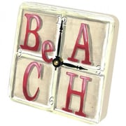 "Lexington Studios Beach Tiny Times 5"" x 5"" Clock (LXNGS424)"