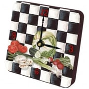 "Lexington Studios Tiny Times Lettuce 5"" Square Checked Clock (LXNGS430)"