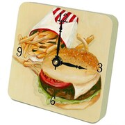 Lexington Studios Burgers and Fries Tiny Times Clock (LXNGS392)