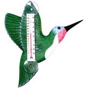 Songbird Essentials Green Hummingbird Large Window Thermometer