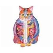 """Songbird Essentials Small Cat Fat Tabby Thermometer, 4.1""""D x 0.8""""W x 6.6""""L (SE2170906)"""