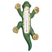 Songbird Essentials Climbing Green Spotted Gecko Window Thermometer, Large (GC16263)