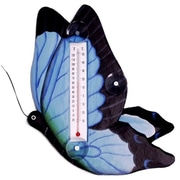 Songbird Essentials Blue Swallowtailed Butterfly Large Window Thermometer