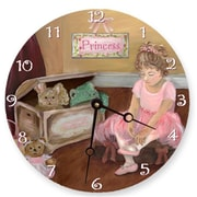 Lexington Studios Pastel Pretty in Pink Round Clock (LXNGS241)