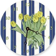 Lexington Studios 23088 , LR Yellow Tulips 18 in. Round Clock
