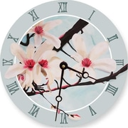 Lexington Studios Pink Magnolias 18in Round Clock (LXNGS186)
