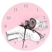 "Lexington Studios Ice Skates 10"" Round Clock (LXNGS294)"