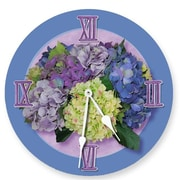 Lexington Studios Purple Hydrangea Round Clock (LXNGS310)