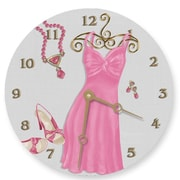 Lexington Studios Night on the Town 18in Pink Round Clock (LXNGS315)