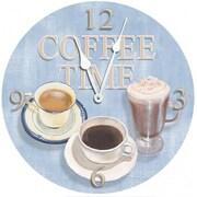 Lexington Studios Blue 18in Round Coffee Time Clock (LXNGS199)