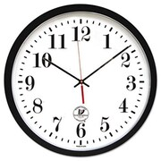Chicago Lighthouse Atomic Slimline Contemporary Clock, 16.5in, Black (AZERTY2333)