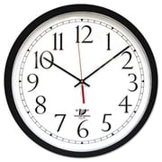 Chicago Lighthouse Self-Set Wall Clock, 14.5in, Black (AZERTY2335)