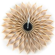 "World Friendly World Natural Wood Sunflower 20"" diameter Clock (WRFW023)"