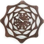 World Friendly World Wooden Interlaced Handmade Lasercut Retro Mid-Century 20in Diameter Clock (WRFW030)