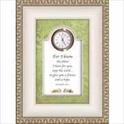 "Heartfelt Jeremiah 29:11 ""For I Know The Plans"" 6"" x 8"" Clock (ANCRD34451)"