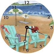 Lexington Studios Skinny Dipping 18in Round Clock (LXNGS156)