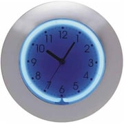 "Creative Motion 12"" 2-Color Neon Clock with Chrome Frame (CMI713)"