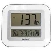 Sonnet Industries Atomic LCD Wall Clock with Temperature/Date/Humidity (RTL21CR109)