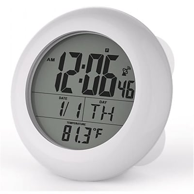 Sonnet Industries Suction Cup Atomic Clock with 1.5in Numbers and Stand (SNNT033) 1875884