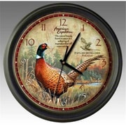 Ideaman American Expedition Pheasant 16in Wall Clock (ID462)