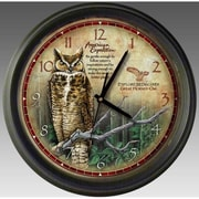 American Expedition Great Horned Owl Wall Clock (IDMN719)