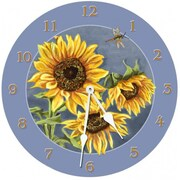 Lexington Studios Tuscan Sunflowers 18in Round Clock (LXNGS179)
