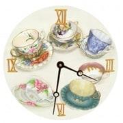 Lexington Studios 23066R Tea Cups Round Clock (LXNGS219)