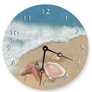 Lexington Studios Ocean Shells 18in Round Clock (LXNGS187)