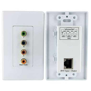 Startech.Com Component Wall Plate Video Extender Over Cat 5 with Digital Audio