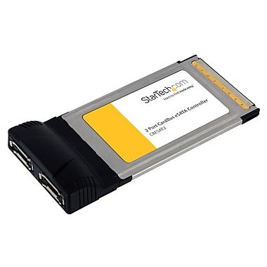 Startech.Com – Carte adaptatrice de contrôle Esata pour ordinateur portatif à 2 ports