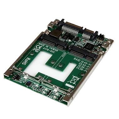 Startech.Com – Adaptateur convertisseur Raid double Msata SSD à SATA, 2,5 po